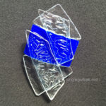 blue shattered glass ceiling pin